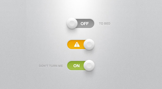 20 Free Toggle Switches UI Elements (PSD) 5