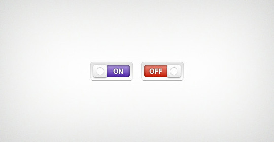 20 Free Toggle Switches UI Elements (PSD) 17