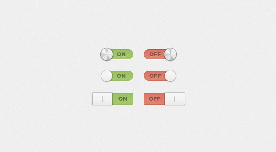 20 Free Toggle Switches UI Elements (PSD) 7