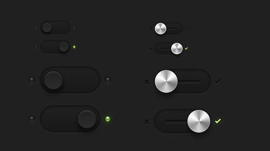 20 Free Toggle Switches UI Elements (PSD) 21