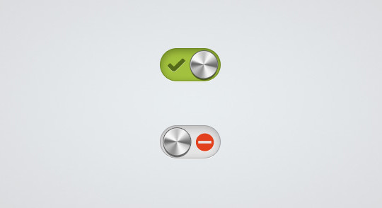 20 Free Toggle Switches UI Elements (PSD) 10