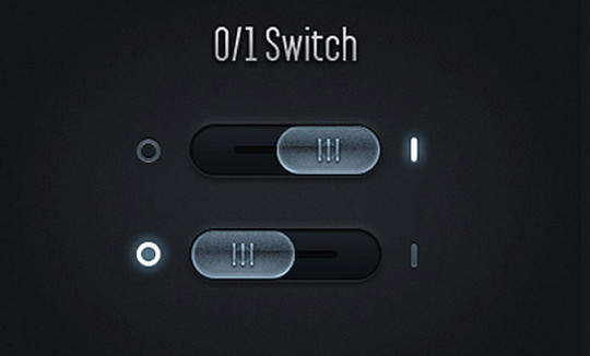 20 Free Toggle Switches UI Elements (PSD) 12