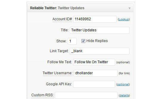 Collection Of Excellent WordPress Twitter Plugins & Widgets 35