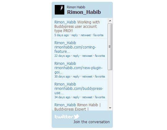 Collection Of Excellent WordPress Twitter Plugins & Widgets 39