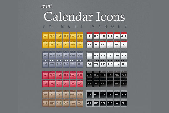 45 Stunning Calendar Icon Sets For Free Download 18