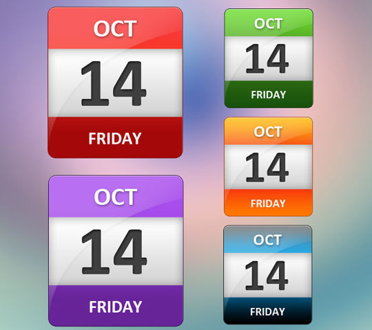 45 Stunning Calendar Icon Sets For Free Download 19