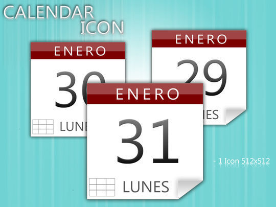45 Stunning Calendar Icon Sets For Free Download 21