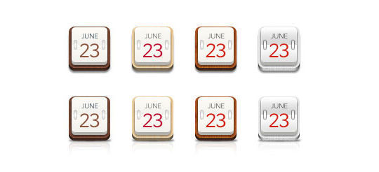 45 Stunning Calendar Icon Sets For Free Download 22