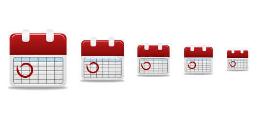 45 Stunning Calendar Icon Sets For Free Download 26