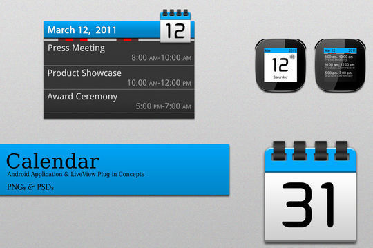 45 Stunning Calendar Icon Sets For Free Download 31