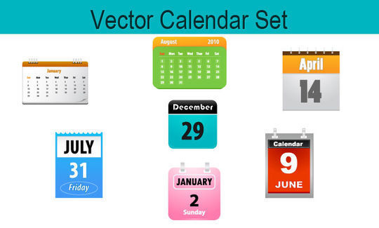 45 Stunning Calendar Icon Sets For Free Download 33