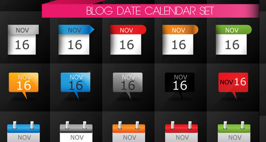 45 Stunning Calendar Icon Sets For Free Download 8