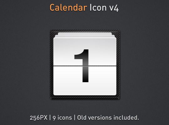 45 Stunning Calendar Icon Sets For Free Download 12