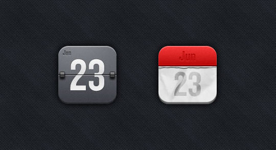 45 Stunning Calendar Icon Sets For Free Download 3