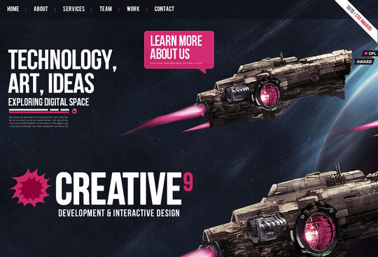 Showcase of Innovative And Creative HTML5 Sites 13