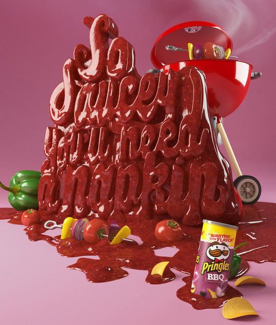 45+ Yummy And Delicious Food Typography Designs 23