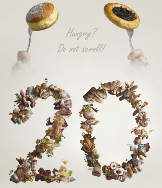 45+ Yummy And Delicious Food Typography Designs 31