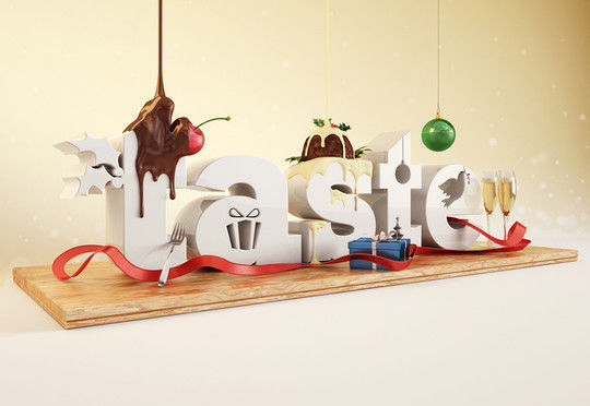 45+ Yummy And Delicious Food Typography Designs 33