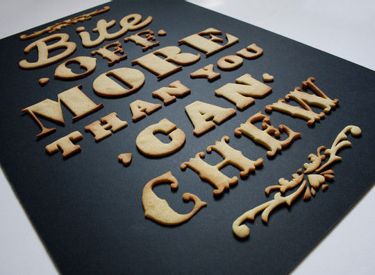 45+ Yummy And Delicious Food Typography Designs 17