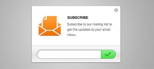 40 Wonderfully Designed Newsletter Subscription Form Photoshop Files 2
