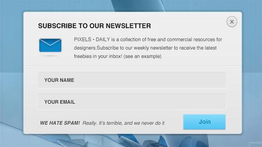 40 Wonderfully Designed Newsletter Subscription Form Photoshop Files 13