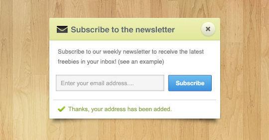 40 Wonderfully Designed Newsletter Subscription Form Photoshop Files 8