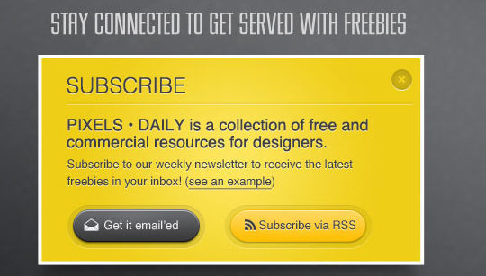 40 Wonderfully Designed Newsletter Subscription Form Photoshop Files 14