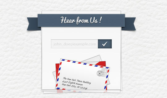 40 Wonderfully Designed Newsletter Subscription Form Photoshop Files 15