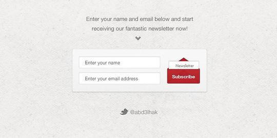 40 Wonderfully Designed Newsletter Subscription Form Photoshop Files 16