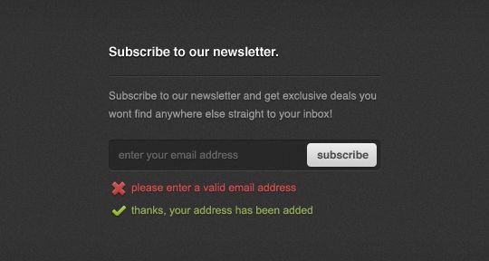 40 Wonderfully Designed Newsletter Subscription Form Photoshop Files 19