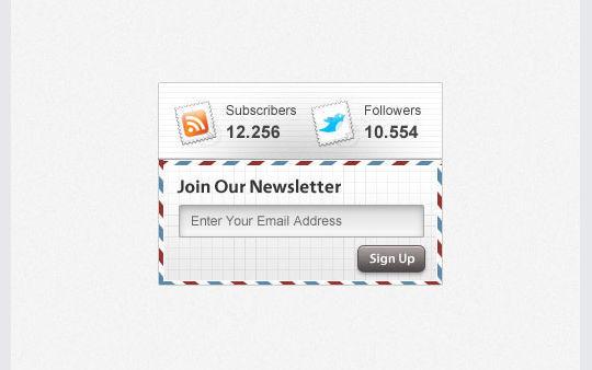 40 Wonderfully Designed Newsletter Subscription Form Photoshop Files 6