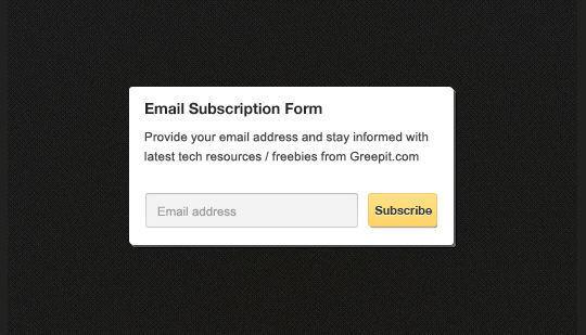 40 Wonderfully Designed Newsletter Subscription Form Photoshop Files 21