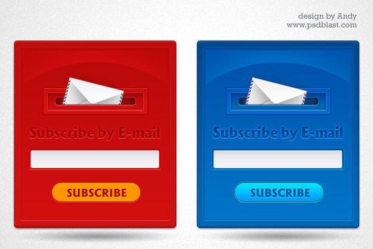 40 Wonderfully Designed Newsletter Subscription Form Photoshop Files 5