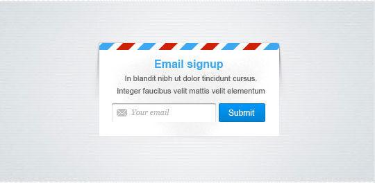 40 Wonderfully Designed Newsletter Subscription Form Photoshop Files 23