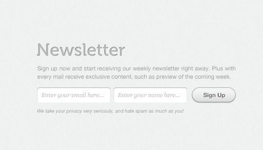 40 Wonderfully Designed Newsletter Subscription Form Photoshop Files 25