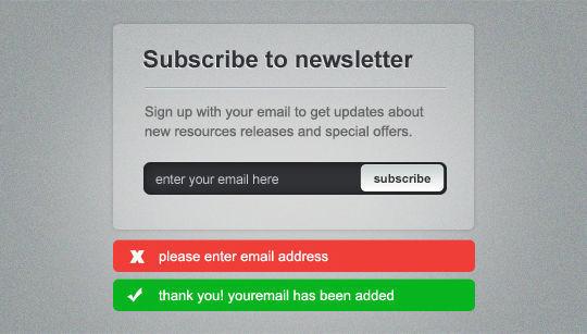 40 Wonderfully Designed Newsletter Subscription Form Photoshop Files 26