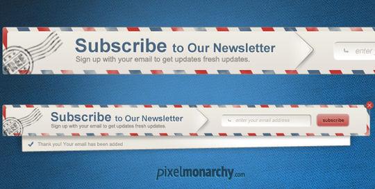 40 Wonderfully Designed Newsletter Subscription Form Photoshop Files 27