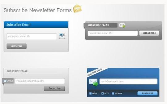 40 Wonderfully Designed Newsletter Subscription Form Photoshop Files 29