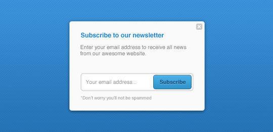 40 Wonderfully Designed Newsletter Subscription Form Photoshop Files 9
