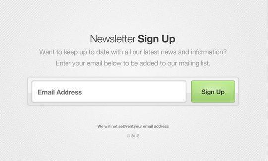 40 Wonderfully Designed Newsletter Subscription Form Photoshop Files 31