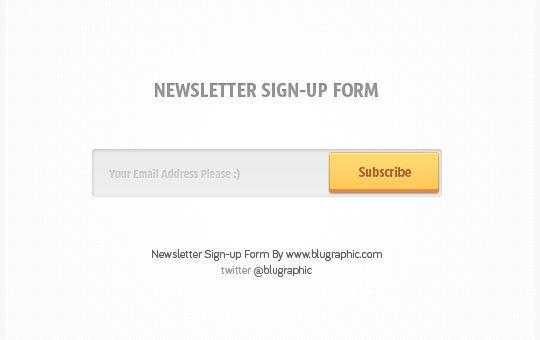 40 Wonderfully Designed Newsletter Subscription Form Photoshop Files 32