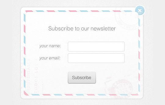 40 Wonderfully Designed Newsletter Subscription Form Photoshop Files 33