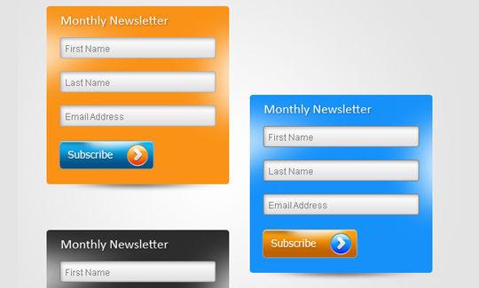 40 Wonderfully Designed Newsletter Subscription Form Photoshop Files 39