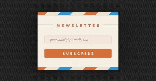 40 Wonderfully Designed Newsletter Subscription Form Photoshop Files 1