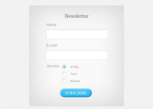 40 Wonderfully Designed Newsletter Subscription Form Photoshop Files 40