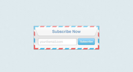 40 Wonderfully Designed Newsletter Subscription Form Photoshop Files 11