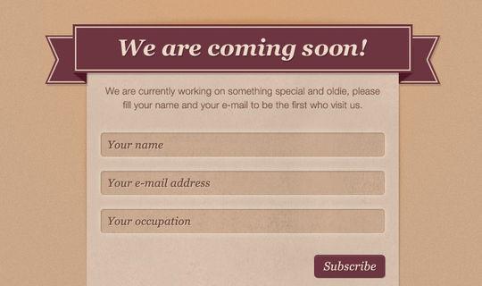 40 Wonderfully Designed Newsletter Subscription Form Photoshop Files 3