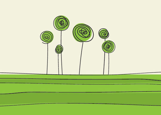 20 Beautiful Vector Trees And Leaves For Designers 11