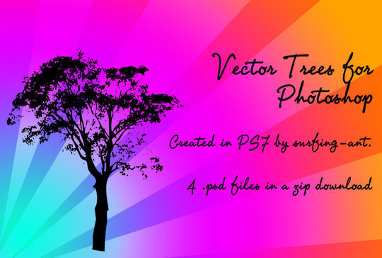 20 Beautiful Vector Trees And Leaves For Designers 19