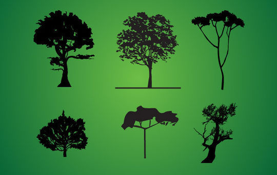 20 Beautiful Vector Trees And Leaves For Designers 9